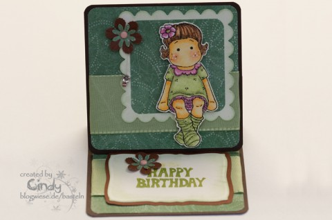 Geburtstagskarte - Easel Card - Berry Tilda 1