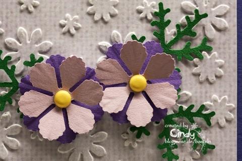 Glückwunschkarte - Smookie mit Blume 2