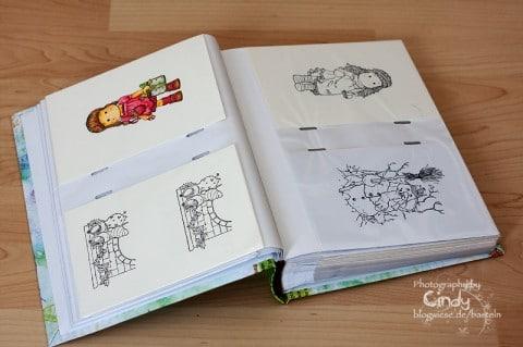 Fotoalbum für Stempelabdrücke vom Aldi - innen