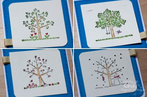 ATC - A Tree for all Seasons - Stampin' Up!