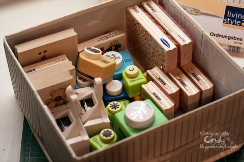 Aufbewahrungsbox für Stempel, Stanzer usw