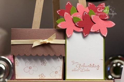 Blumentopfkarte ausgepackt