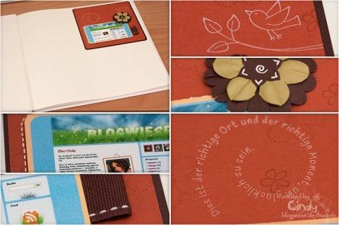 Scrapbooking mit Screenshot von Blogwiese - Collage