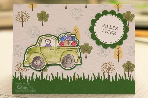 Geburtstagskarte mit Stamp-a-ma-jig