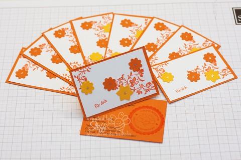 Visitenkarte selber gebastelt - Boho Blüten Stanzer