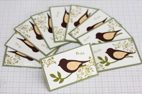 Visitenkarten selber gebastelt mit den Produkten von Stampin' Up!