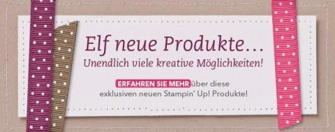 Elf neue Produkte von Stampin' Up!