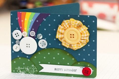 Geburtstagskarte - Rainbow