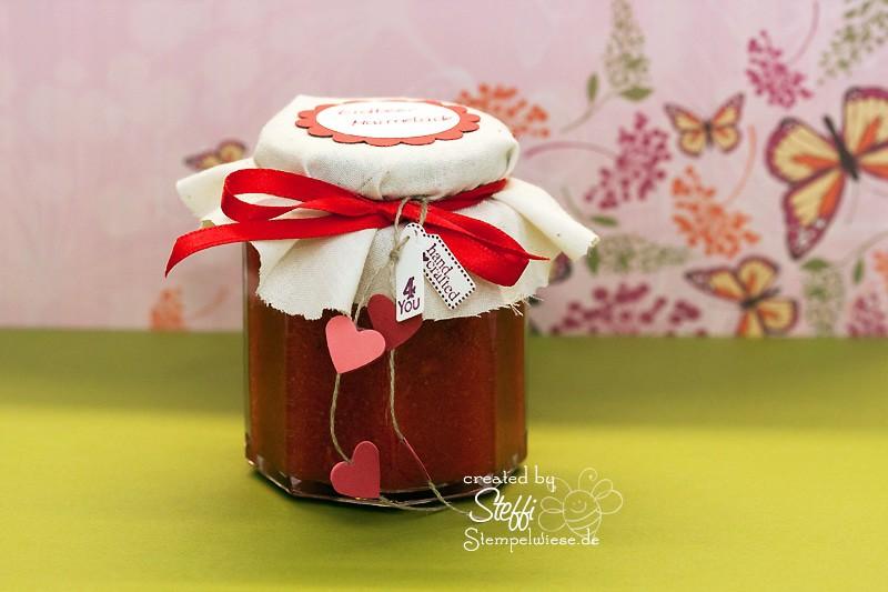 Selbstgemachte Marmelade Stempelwiese