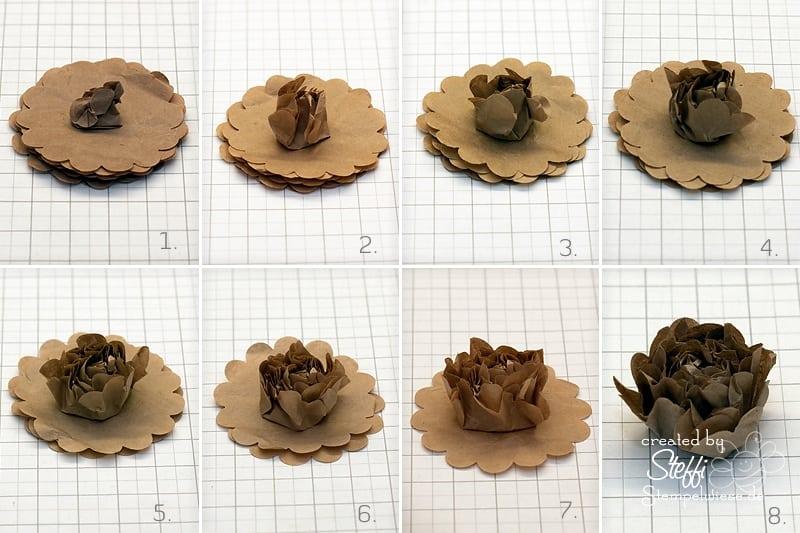 Tutorial 3d Blume Aus Packpapier Selber Machen Stempelwiese