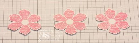 """3D Rose aus dem Stempelset """"Zeitlos"""" - Schritt 1"""