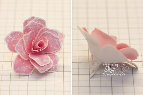 """3D Rose aus dem Stempelset """"Zeitlos"""" - Fertig"""