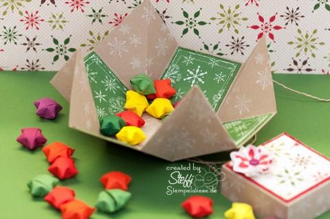 Verpackung zu Weihnachten - offen