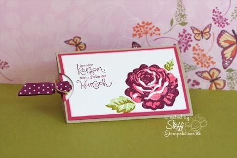 Slider Card - Eine Rose bleibt eine Rose