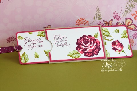 Slider Card - Eine Rose bleibt eine Rose - offen