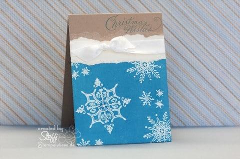 Weihnachtskarte embosst
