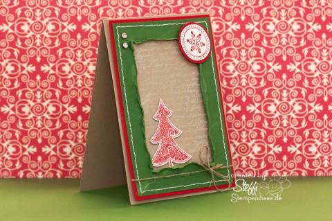 Weihnachtskarte mit Glitter