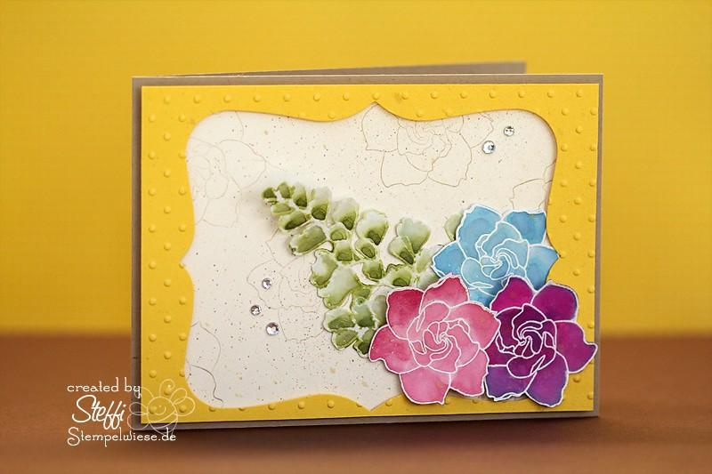 Grußkarte - Coloriert mit Nachfülltinten 1