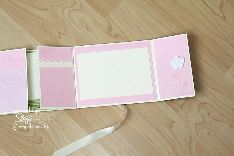 Hochzeitsalbum in Mattgrün, Rosè und Vanille 5