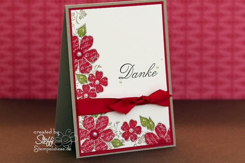 Dankeskarte - Maskiertechnik 1