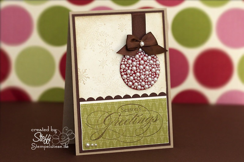 Weihnachtskarte - Perle an Perle an Perle 1