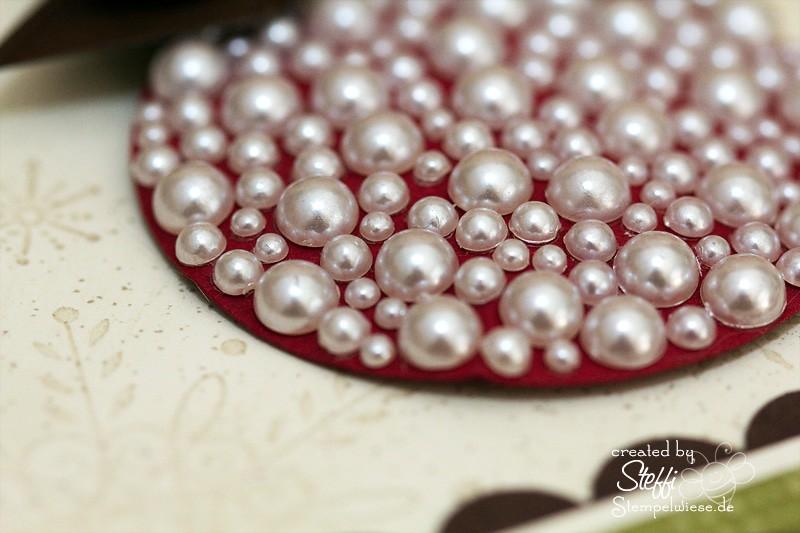 Weihnachtskarte - Perle an Perle an Perle 2