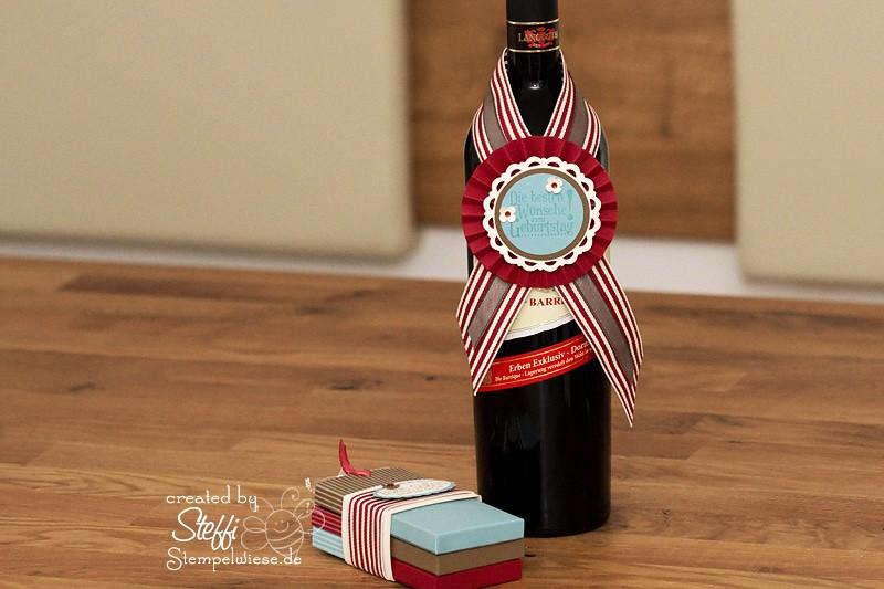 Flaschenhänger und Ziehkarten - Geschenkset 1