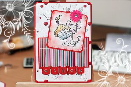 Geburtstagskarte - Muffin Maus