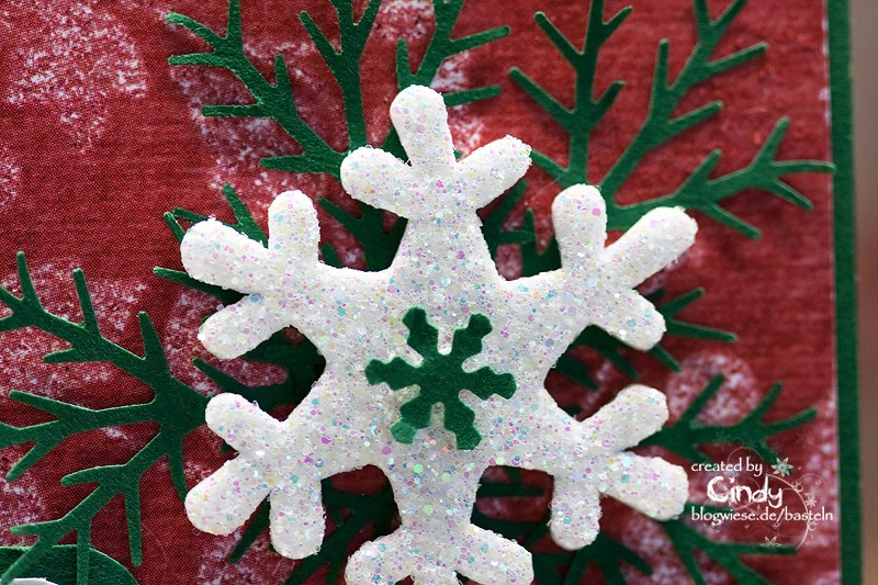 "Weihnachtskarte - Penny Black ""Party Couple"" (Schneeflocke nah)"