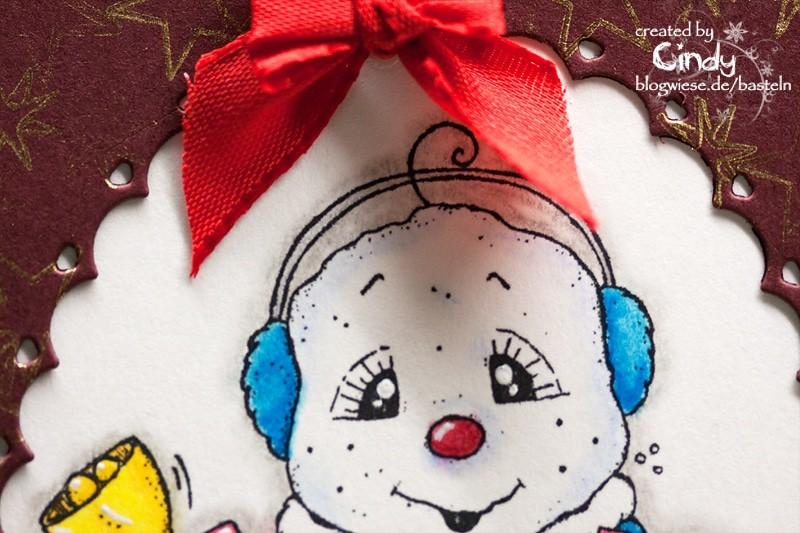 Weihnachtskarte - Snoowie with Bells