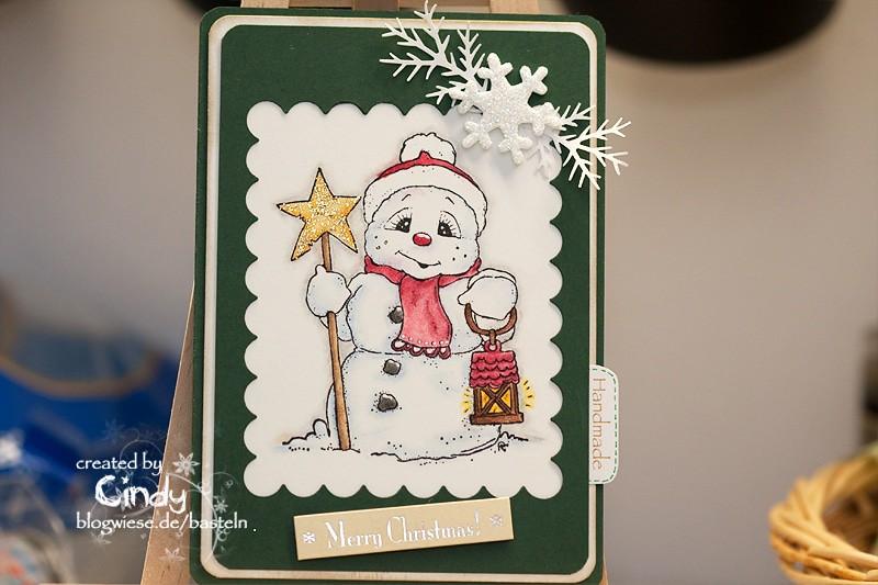 Weihnachtskarte - Snoowie with Star 2