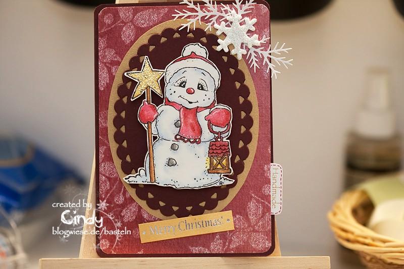 Weihnachtskarte - Snoowie with Star 1
