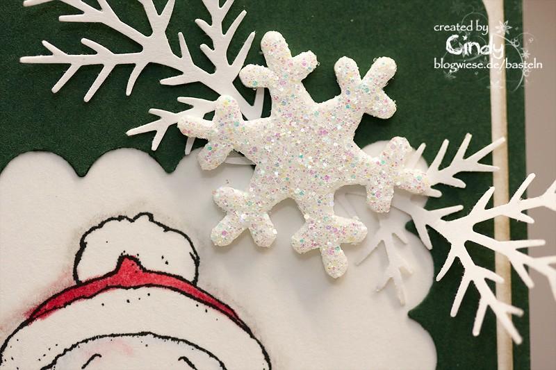 Weihnachtskarte - Snoowie with Star 3