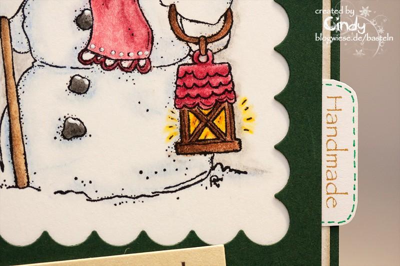 Weihnachtskarte - Snoowie with Star 4