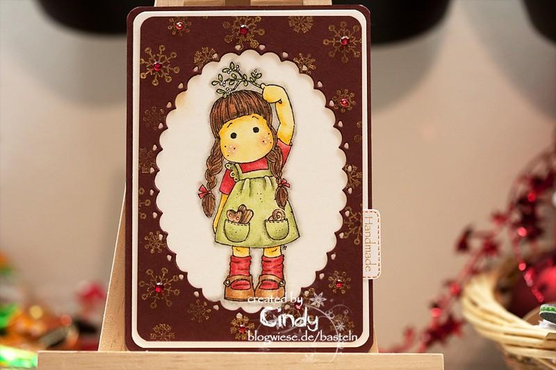Weihnachtskarte - Tilda under Mistletoe 1