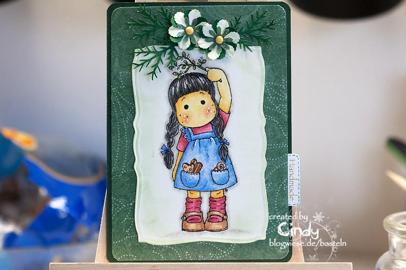 Weihnachtskarte – Tilda under Mistletoe 1