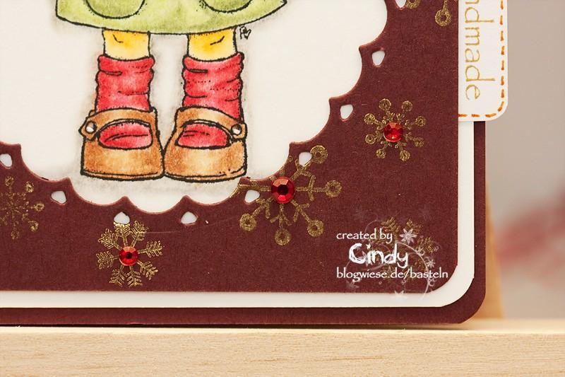 Weihnachtskarte - Tilda under Mistletoe 2