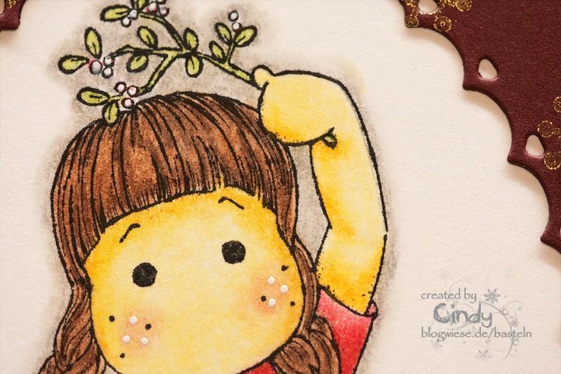 Weihnachtskarte - Tilda under Mistletoe 3