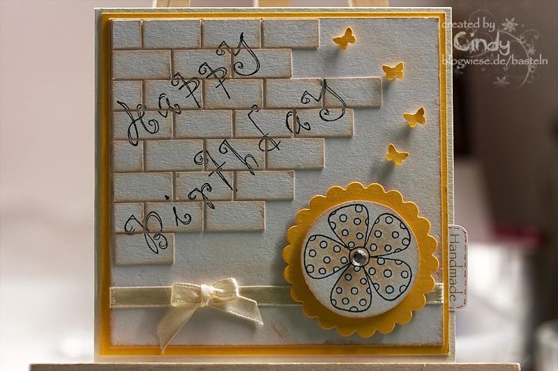 Geburtstagskarte - Brick Wall 1