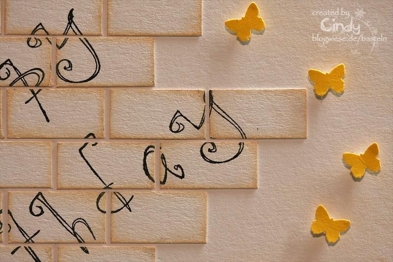 Geburtstagskarte - Brick Wall 3