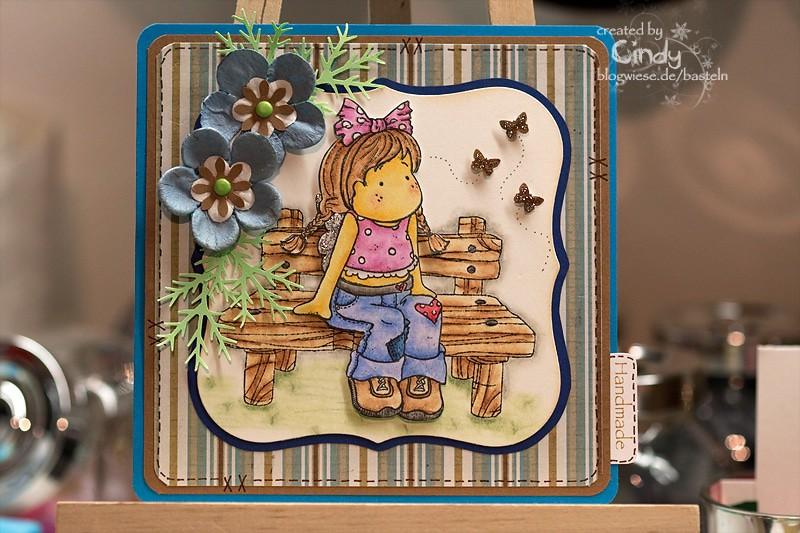 Grußkarte - Sitting Summer Tilda