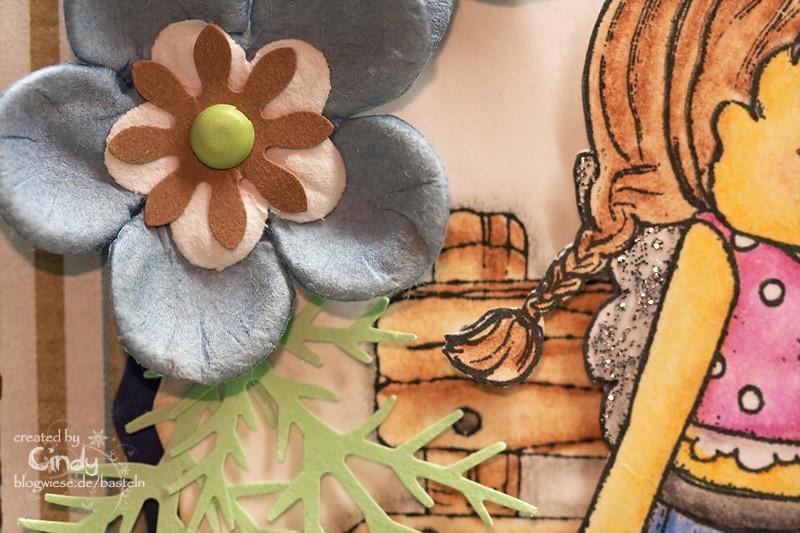 Grußkarte - Sitting Summer Tilda - Flower