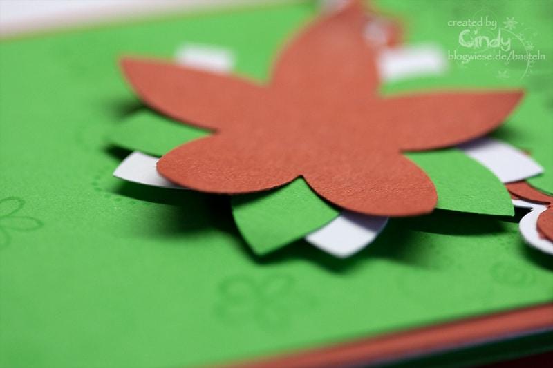 Gutscheinkarte mit Kartenfach - Flower