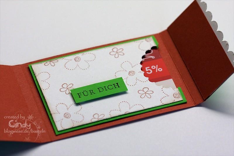 Gutscheinkarte mit Kartenfach - Innen