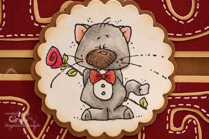 Valentinskarte - LOVE - Kater