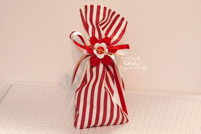 Geschenk Säckchen - Rot Weiß