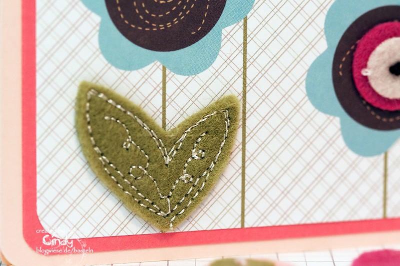 Grußkarte mit Filzblatt