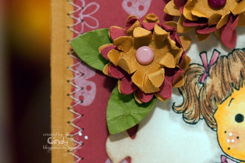 Grußkarte mit Sweet Tilda - Flower