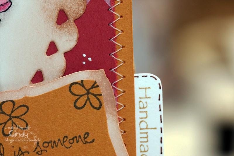 Grußkarte mit Sweet Tilda - Naht