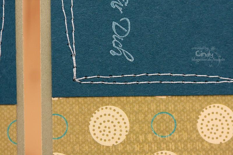 Grußkarte - Naht - Design Stampin' Up! Papier